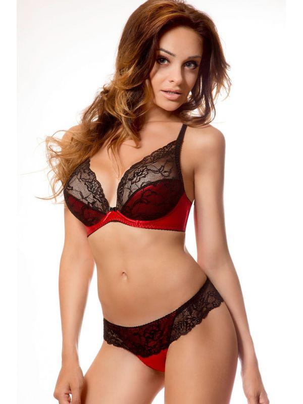 Biustonosz soft CATHERINE Red/Black