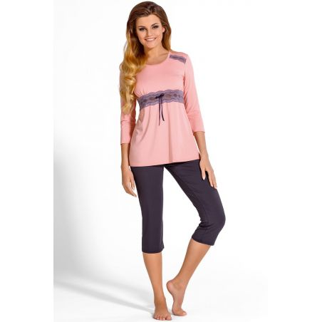 Piżama Damska Model Carmella Pink