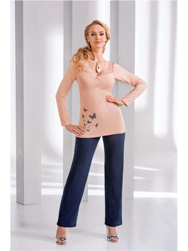 Piżama Damska Model Dorothy Brzoskwinia