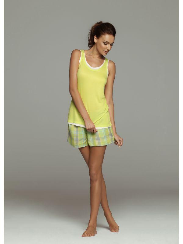 Piżama Model Flash 32034-71 32037-71X Yellow