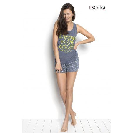 Piżama Damska Model Sailor 34220-55X 34222-55X Grey