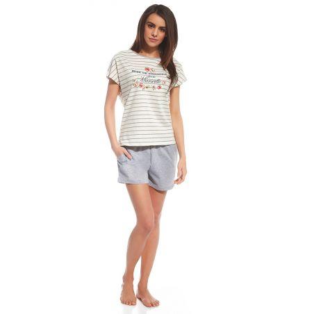 Piżama Damska Model Provence 053/100 Ecru/Grey