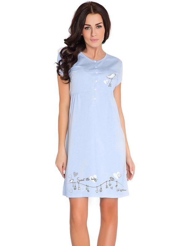 Koszula Nocna Ciążowa Model TCB.7029 Blue