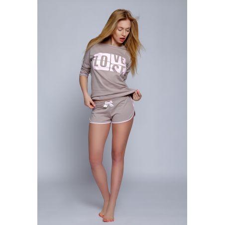 Piżama Damska Model Eve Mocca