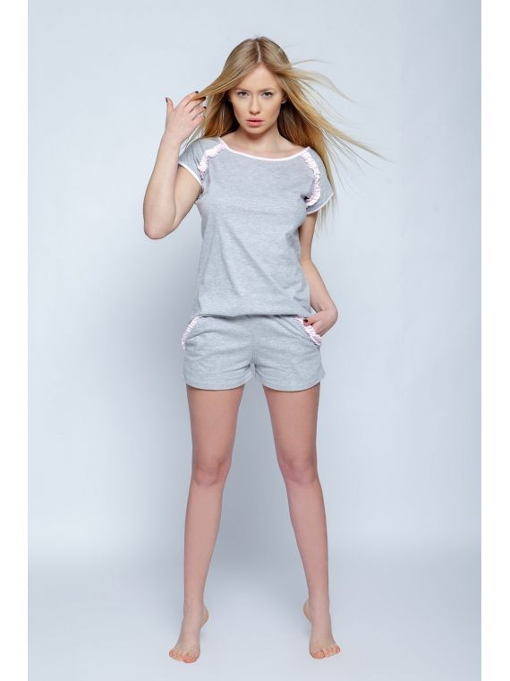 Piżama Damska Model Sisi Grey
