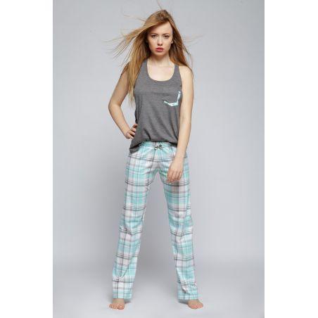 Piżama Damska Model Mia Grey/Mint