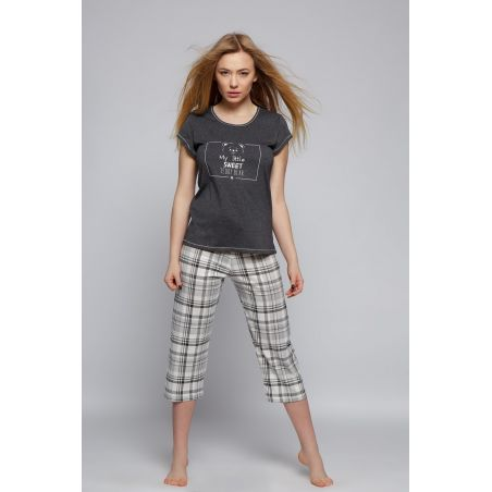 Piżama Damska Model Grey Bear Grafit