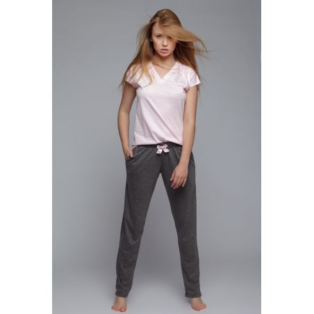 Piżama Damska Model Joy Pink