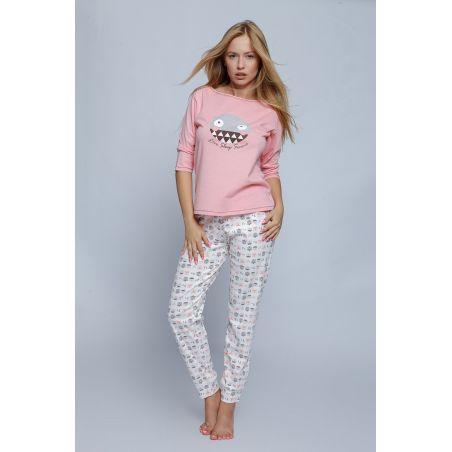 Piżama Damska Model Maya Powder Pink