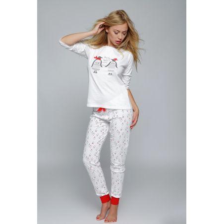 Piżama Damska Model Pingwin White