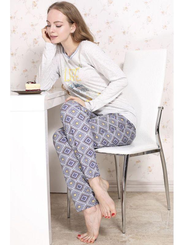 Piżama Damska Model Molly 546 Grey/Blue