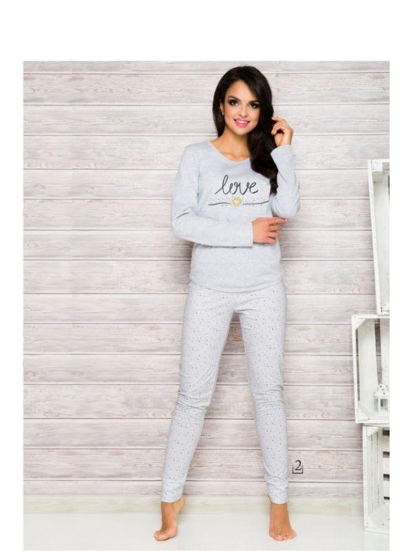 Piżama Damska Model Malina 1198 AW/17 K2 Grey