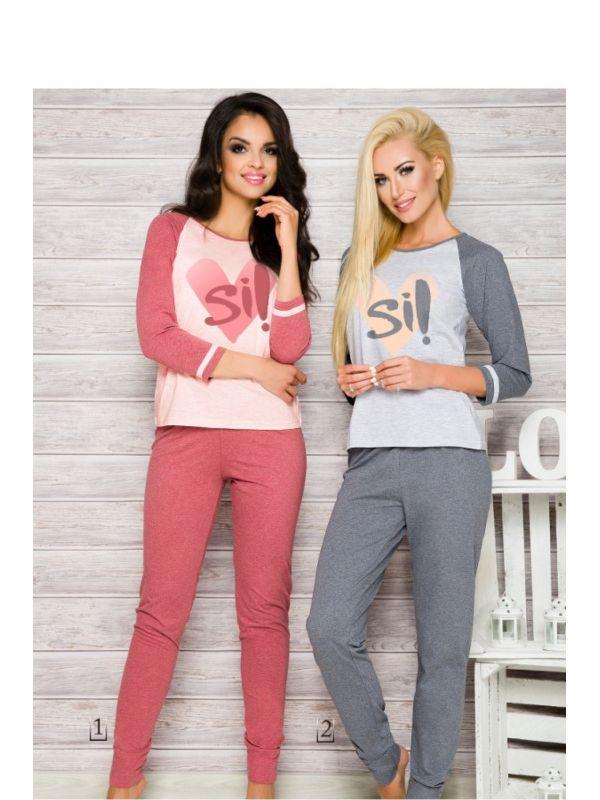 Piżama Damska Model Hana 2118 AW/17 K1 Pink