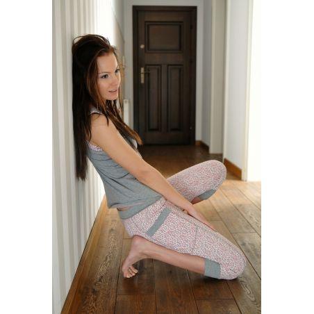 Piżama Damska Model Sauvage EP002 Grey/Pink