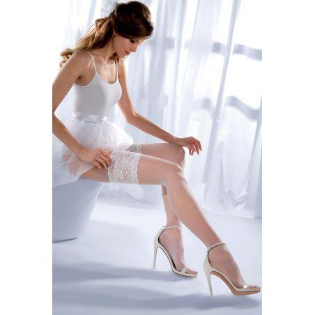 Pończochy Klasyczne Model Princessa calze 03 code 187 Bianco