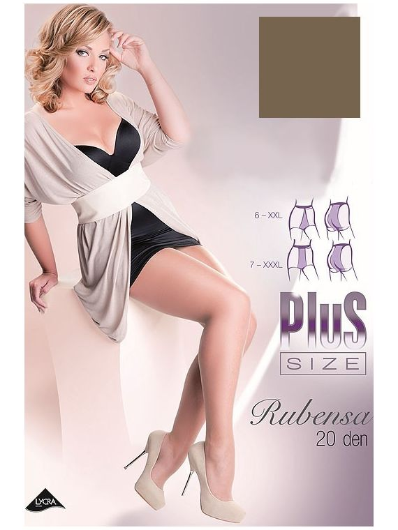 Rajstopy Model Rubensa Plus Size code 161 Neutro