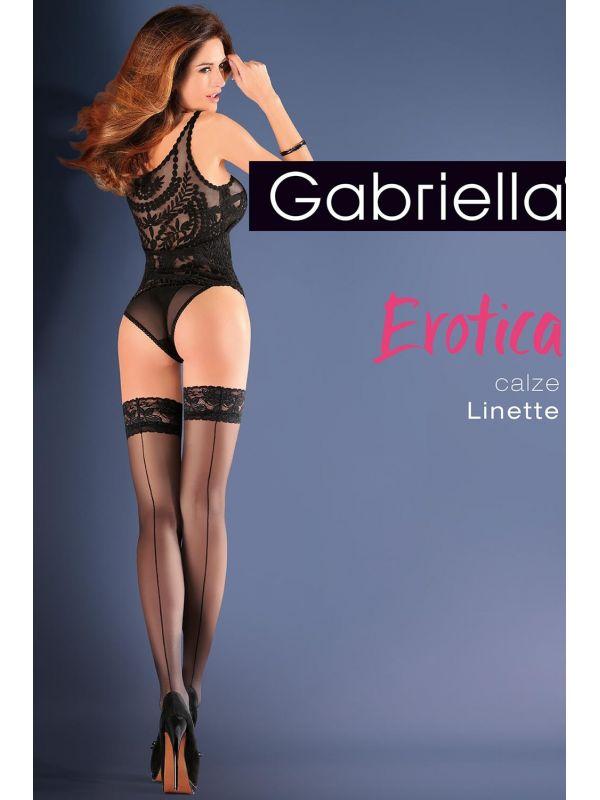Pończochy Model Erotica Calze Linette Code 642 Nero