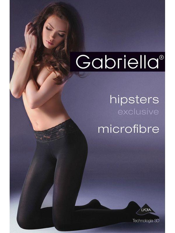 Rajstopy Model Hipsters exclusive microfibre Code 631 Nero