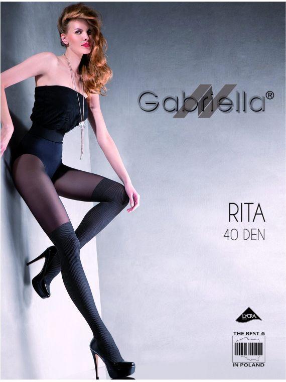 ed75006e76ad35 Rajstopy Rita 40DEN Nero