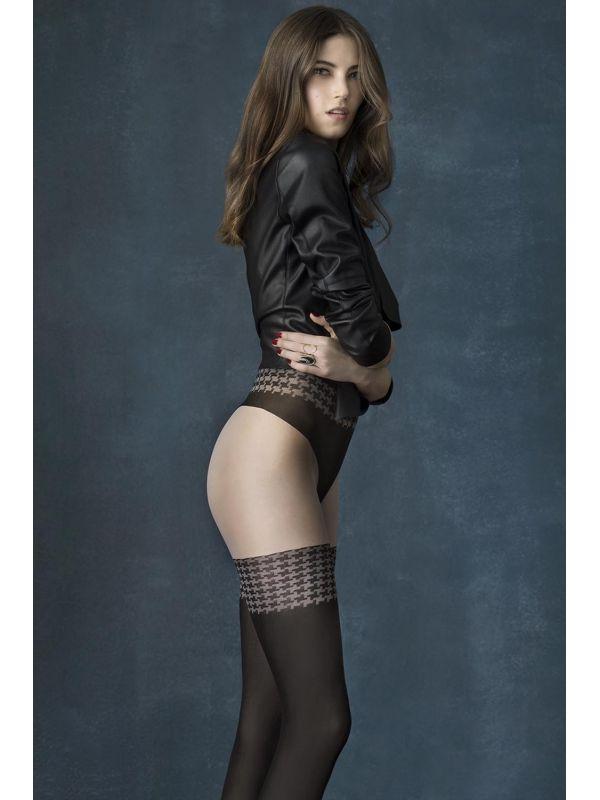 Rajstopy Model City Girl 40 den Black/Linen