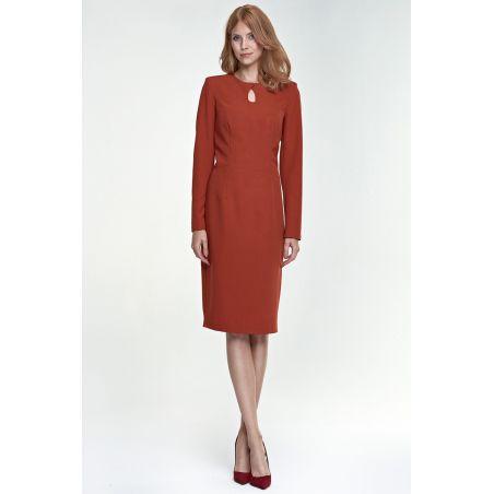 Sukienka Erin S79 rudy