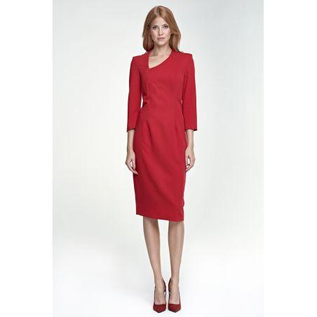Sukienka Maddy S76 czerwony