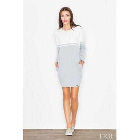 Sukienka Model M510 Ecru/Grey