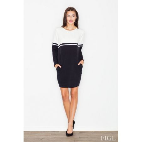 Sukienka Model M510 Black/Ecru