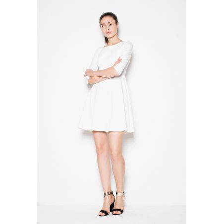 Sukienka Model Ginny S71 1232 Ecru/Pink