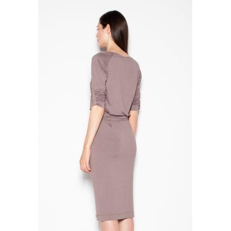 Sukienka Model 400 Grey/Ecru
