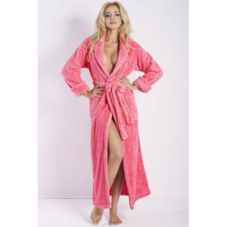Szlafrok Model Eliza Długi Coral