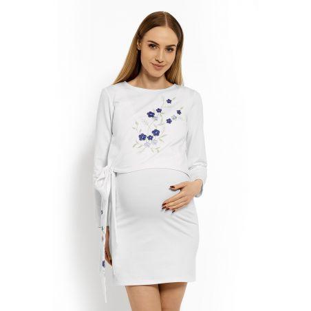 Sukienka Ciążowa Model 1624C White