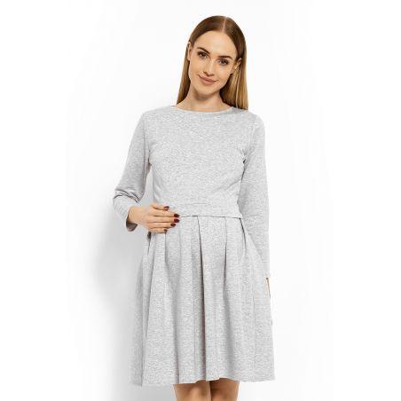 Sukienka Ciążowa Model 1628C Light Grey