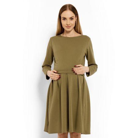 Sukienka Ciążowa Model 1628C Khaki