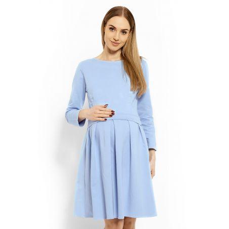 Sukienka Ciążowa Model 1628C Sky Blue