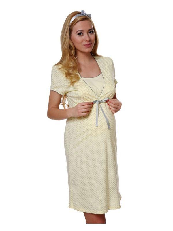 Koszula Nocna Model Felicita kr.r. YellowItalian Fashion