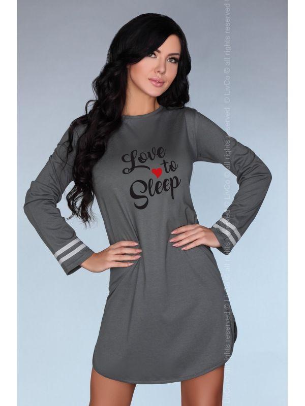 Koszula Nocna Model Dill GreyLivia Corsetti Fashion