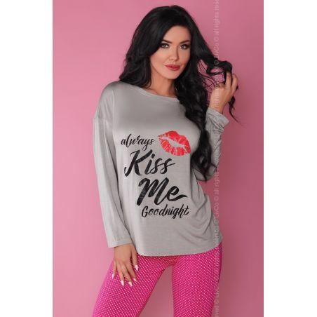 Piżama Damska Model Sweet Kiss 108 Grey/Pink