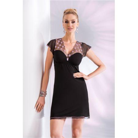 Koszula Nocna Model Paris Black/PinkDonna