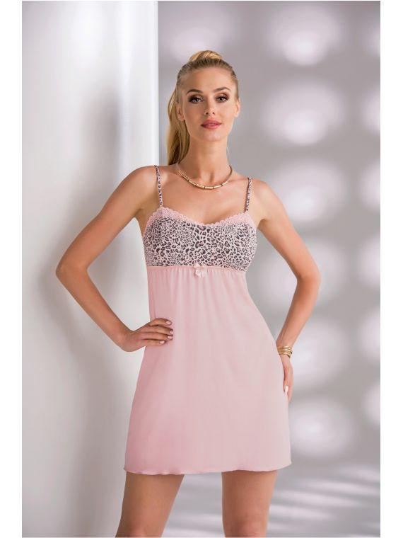 Koszula Nocna Model Marika II Dirty PinkDonna