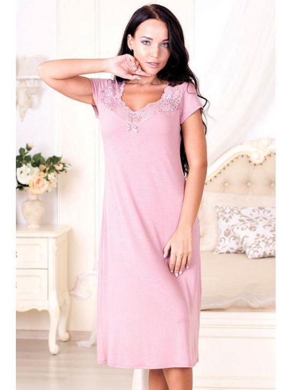 Koszula Nocna Model Victoria 573 Powder PinkRoksana