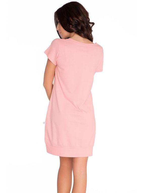 Koszula Nocna Model TM.5009 PinkDn-nightwear