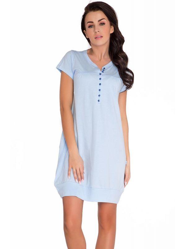 Koszula Nocna Model TM.5009 Light BlueDn-nightwear