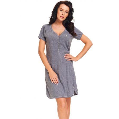 Koszula Nocna Model TM.9301 Dark GreyDn-nightwear