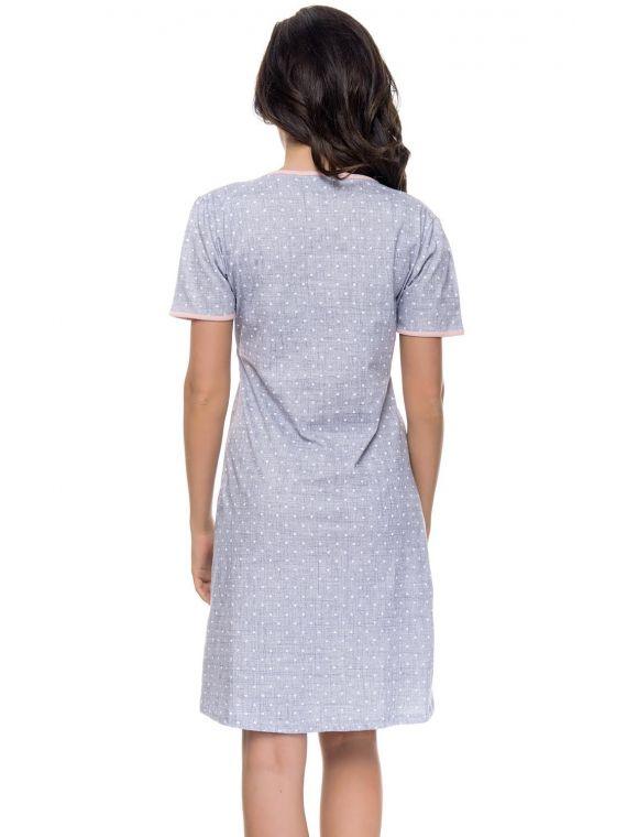 Koszula Nocna Model TCB.4044  Light GreyDn-nightwear
