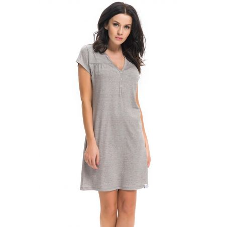 Koszula Nocna Model TCB.9117 Dark GreyDn-nightwear