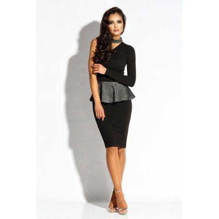 Sukienka Model Sari Black/Silver