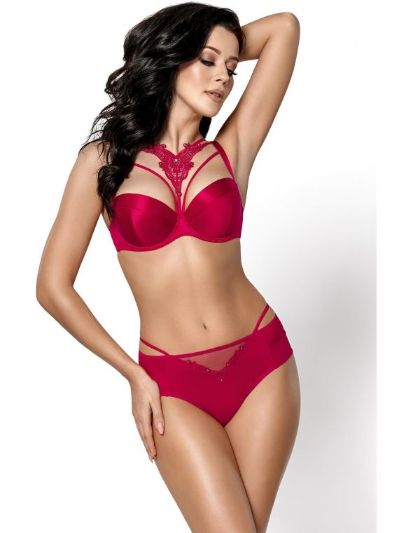 Biustonosz Push-up Model K411 Mon Cheri Bordo