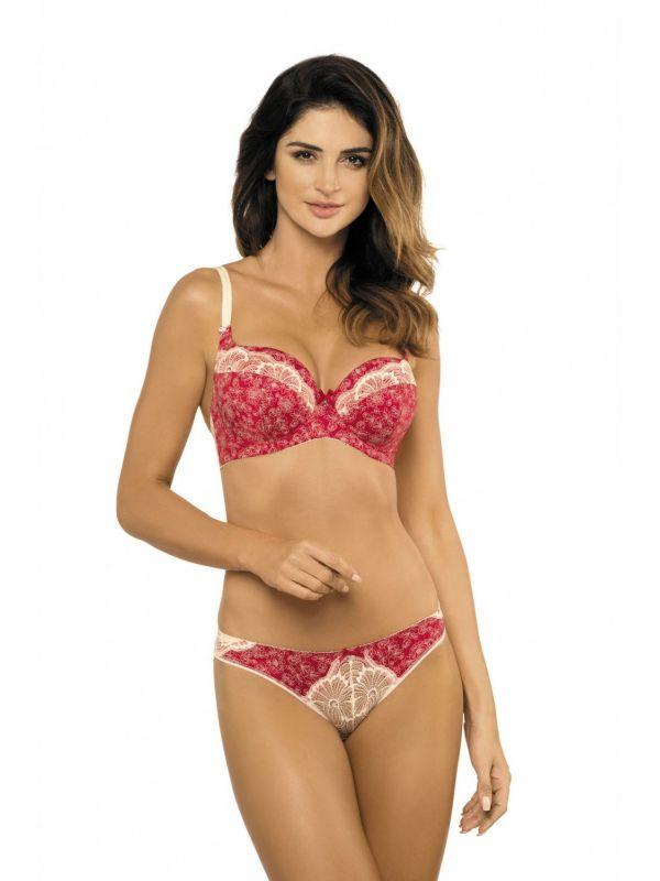 Biustonosz Usztywniany Model Nadia B4 Red/Cream