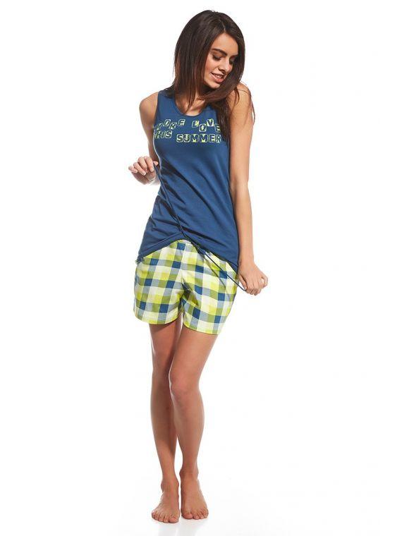 Piżama Damska model More Love 659/104 Blue/Green